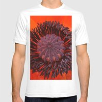 Poppy 3 Mens Fitted Tee White SMALL