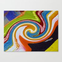 Spirals Color Material Canvas Print