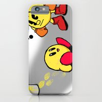 iPhone Cases featuring Pacman and Kirby by Bradley Bailey