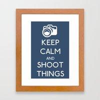Keep Calm and Shoot Things Framed Art Print