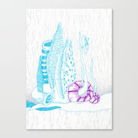 The rain from beyond Canvas Print