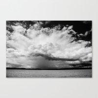 White Clouds Canvas Print