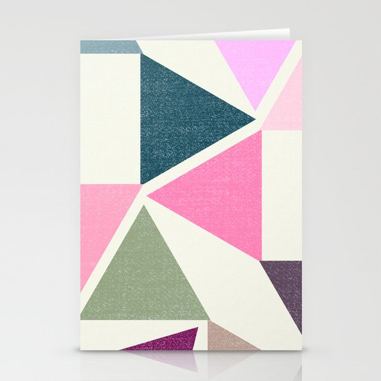 SPRING TRIANGLES Stationery Card
