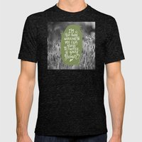 Green Grass Mens Fitted Tee Tri-Black SMALL
