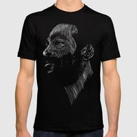 Marvin Gaye Mens Fitted Tee Black SMALL