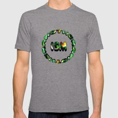 Flowers in Another ism Mens Fitted Tee Tri-Grey SMALL