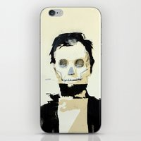 Abraham Lincoln (skull) iPhone & iPod Skin