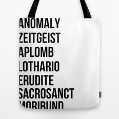 Zachary Quinto and Chris Pine want to enrich YOUR vocabulary. Tote Bag