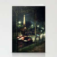 Paris Night III Stationery Cards