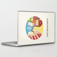 san francisco Laptop & iPad Skins featuring San Francisco by uzualsunday