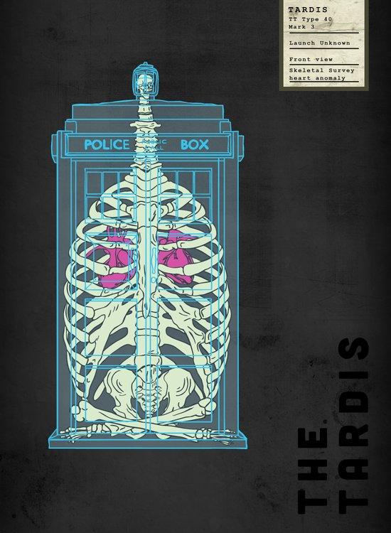 Spaceship Skeletal Survey: The Tardis Canvas Print
