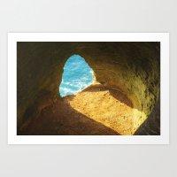 A window to the sea Art Print