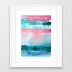 Turquoise love Framed Art Print