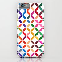 iPhone & iPod Case featuring abstract round shapes background circle geometry illustration by tony tudor