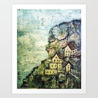 HIMALAYAN VILLAGE Art Print