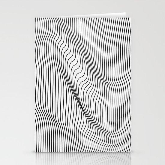 Minimal Curves Stationery Card