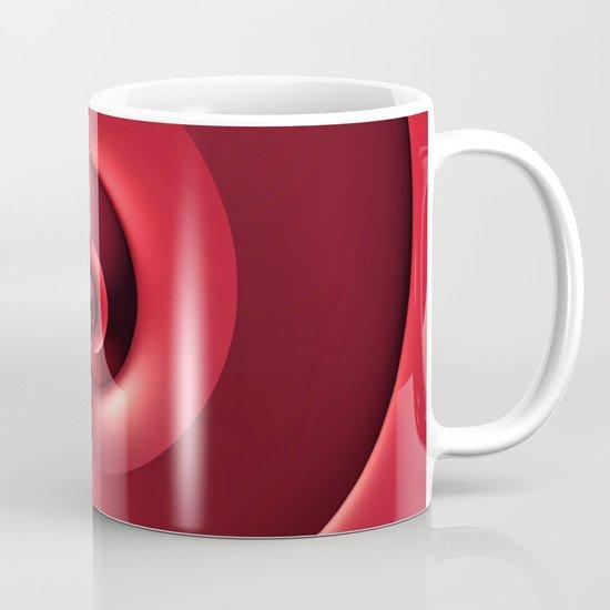 Red Spiral Mug