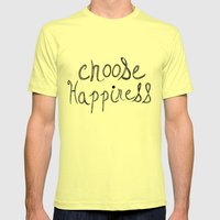 Choose Happiness Mens Fitted Tee Lemon SMALL