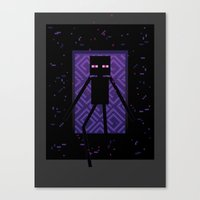 Here comes the Enderman! Canvas Print