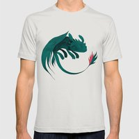 Toothless Mens Fitted Tee Silver SMALL