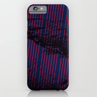 Red stripes on bold blue illustration. iPhone 6 Slim Case