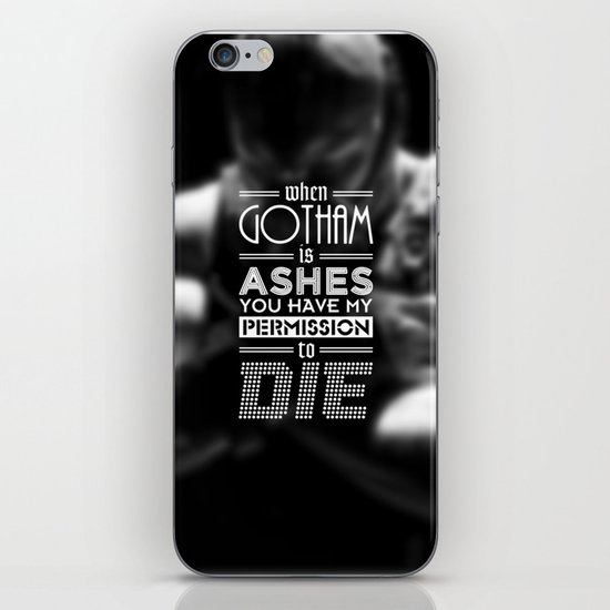 """DARK KNIGHT RISES"" - BANE - Typography Poster iPhone & iPod Skin"