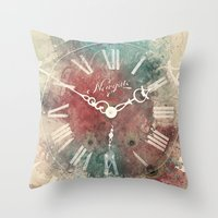 Old Clock Throw Pillow