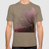 Along a Misty Bank Mens Fitted Tee Tri-Coffee SMALL