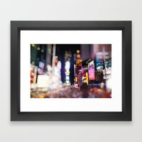 Times Square Blurrr-Boke… Framed Art Print