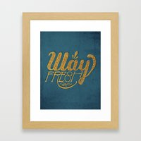 Way Fresh Framed Art Print
