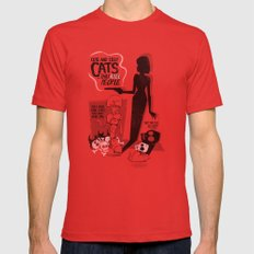 Cat Movie - orange Mens Fitted Tee Red SMALL