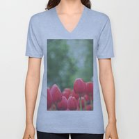 Red Tulips Unisex V-Neck
