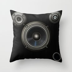 Speakers Throw Pillow