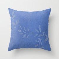 Blue Ivy Vine Throw Pillow