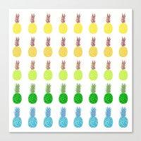 Pineapples lime crush Canvas Print