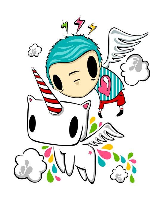Polypop The Unicorn Art Print