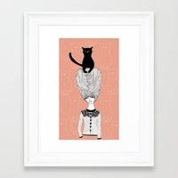 The Cat Lady Framed Art Print