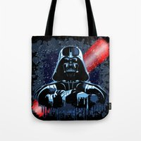 Darth Vader Mask On Dark… Tote Bag