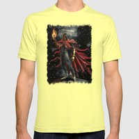 Epic Vincent Valentine Final Fantasy Painting Portrait Mens Fitted Tee Lemon SMALL