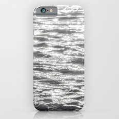 Glittering Early Sunlight Bouncing Off Gentle Waves in Monochrome Black and White iPhone 6s Slim Case