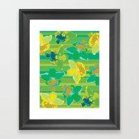 Fluor Flora - Acid Framed Art Print