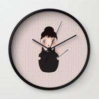 KOKESHI-BREAKFAST Wall Clock