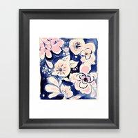Midnight Moonflower Framed Art Print