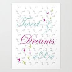 Tweet Dreams Art Print