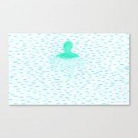 Blue ocean Canvas Print
