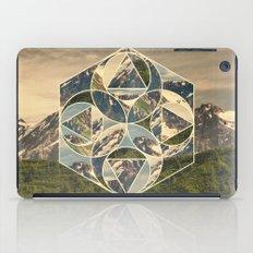 Geometric mountains 1 iPad Case