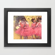 The Pink Dancers Before … Framed Art Print