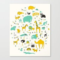 Let's Go To The Zoo Canvas Print