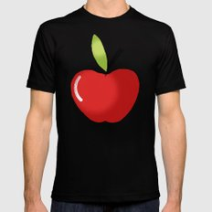 APPLE Mens Fitted Tee SMALL Black