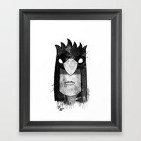 Bird Head Framed Art Print